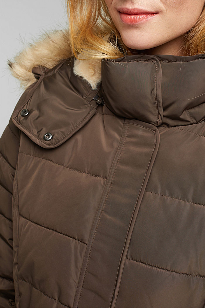 Recycled: Coat with 3M™ Thinsulate™ filling, DARK BROWN, detail image number 2
