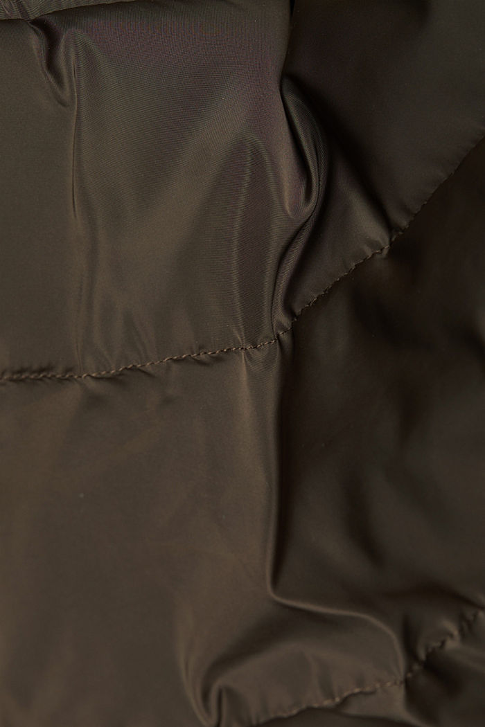 Recycled: Coat with 3M™ Thinsulate™ filling, DARK BROWN, detail image number 4