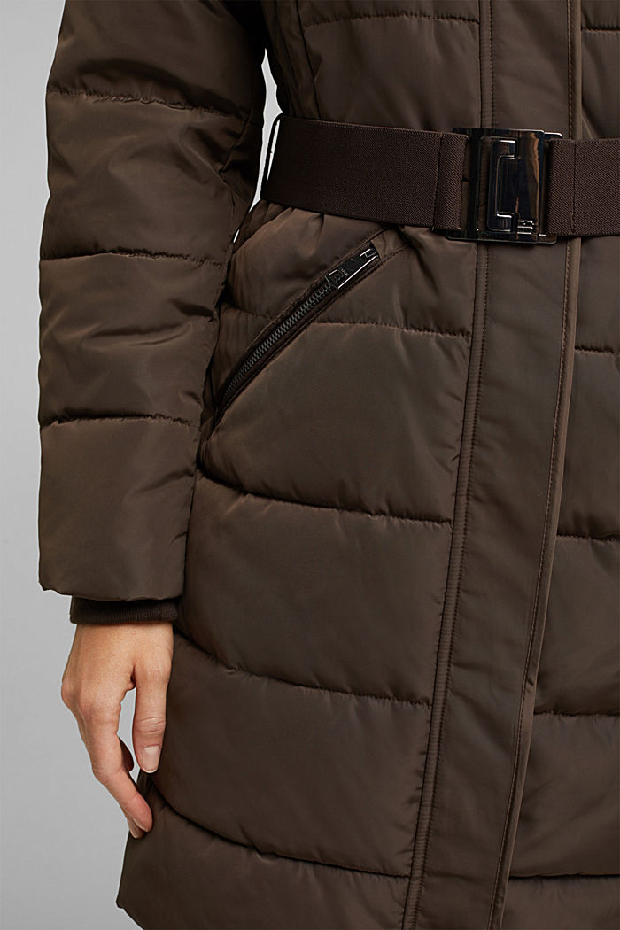 Recycled: Coat with 3M™ Thinsulate™ filling, DARK BROWN, detail image number 5