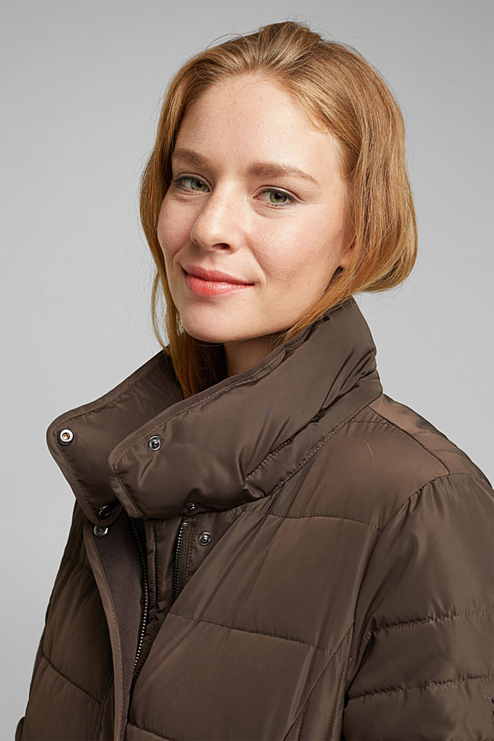 Recycled: Coat with 3M™ Thinsulate™ filling, DARK BROWN, detail image number 7