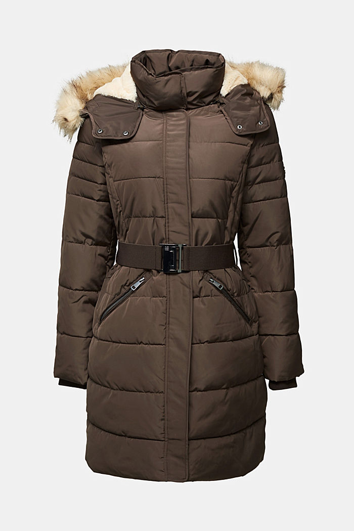 Recycled: Coat with 3M™ Thinsulate™ filling, DARK BROWN, detail image number 8