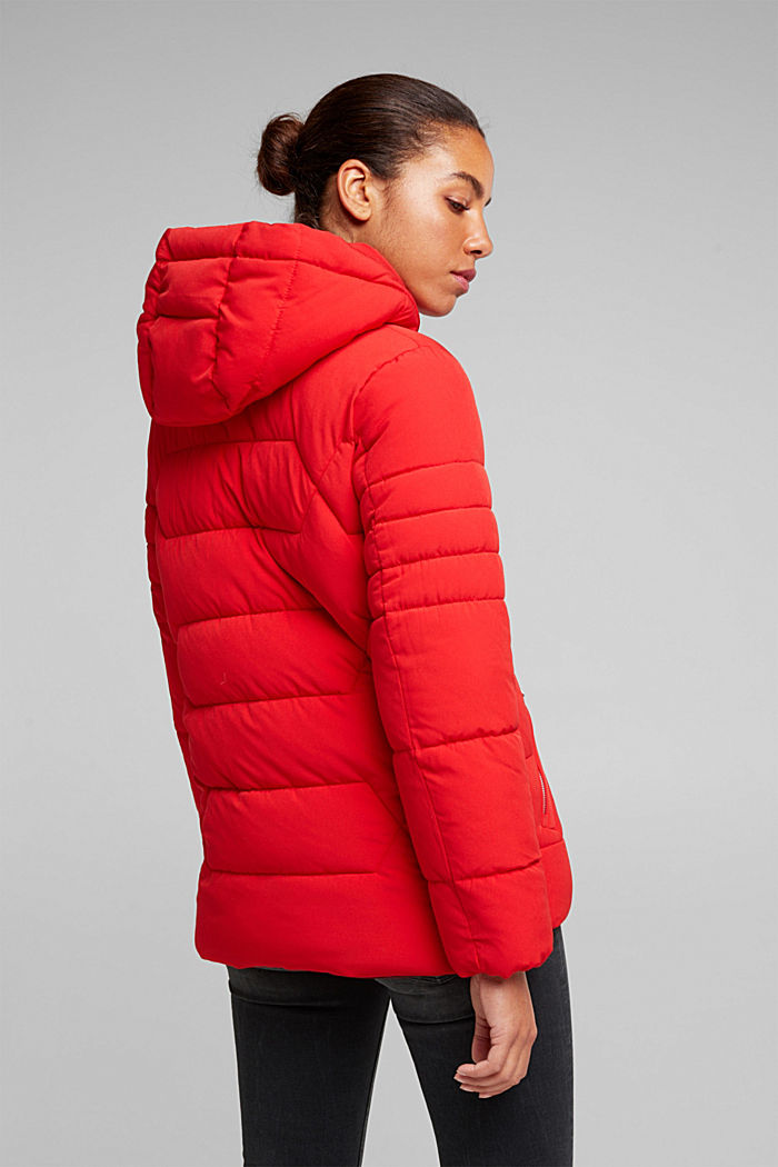 Recycled: nylon quilted jacket, RED, detail image number 3