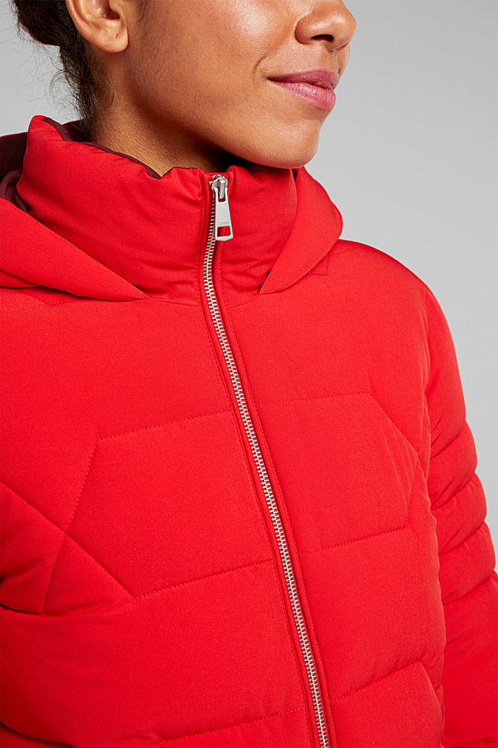 Recycled: nylon quilted jacket, RED, detail image number 2