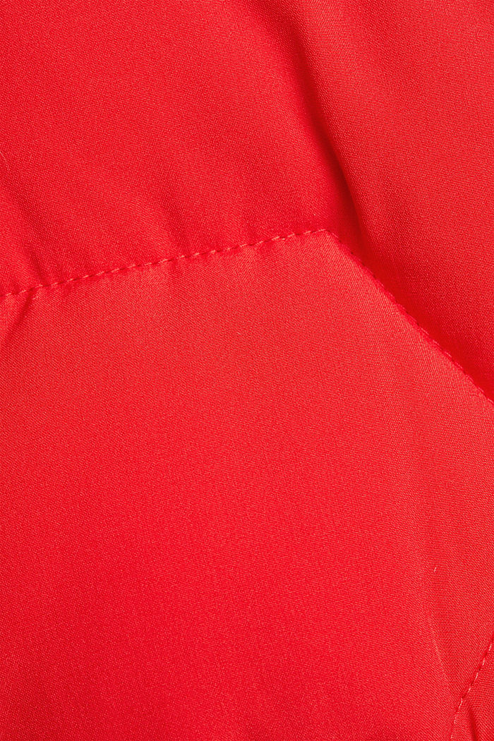 Recycled: nylon quilted jacket, RED, detail image number 4