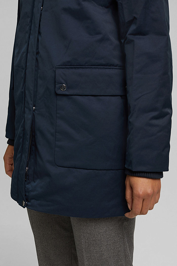 Parka with fake fur hood, NAVY, detail image number 5