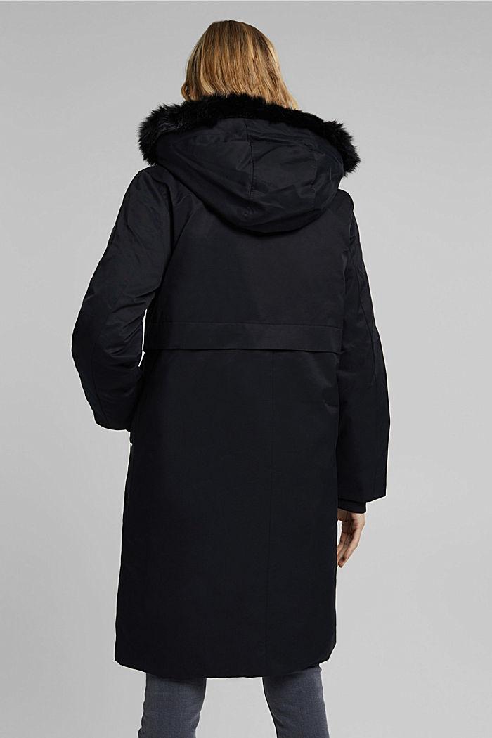 REPREVE® parka made of blended cotton, BLACK, detail image number 3