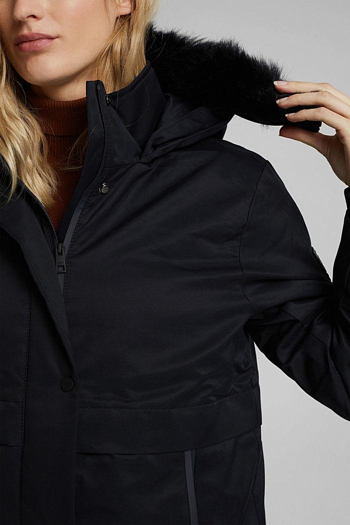 REPREVE® parka made of blended cotton, BLACK, detail image number 2