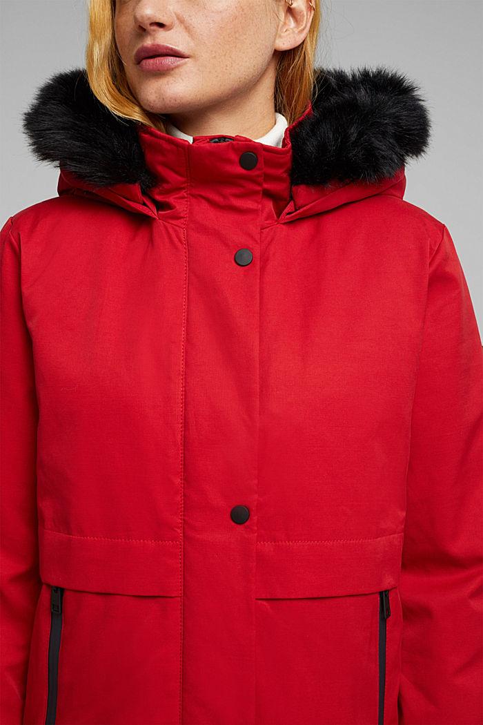 REPREVE® parka made of blended cotton, DARK RED, detail image number 2