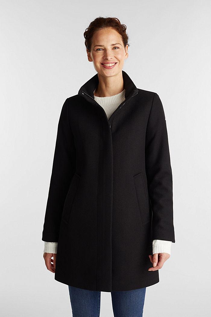 Recycelt: Mantel mit Wolle