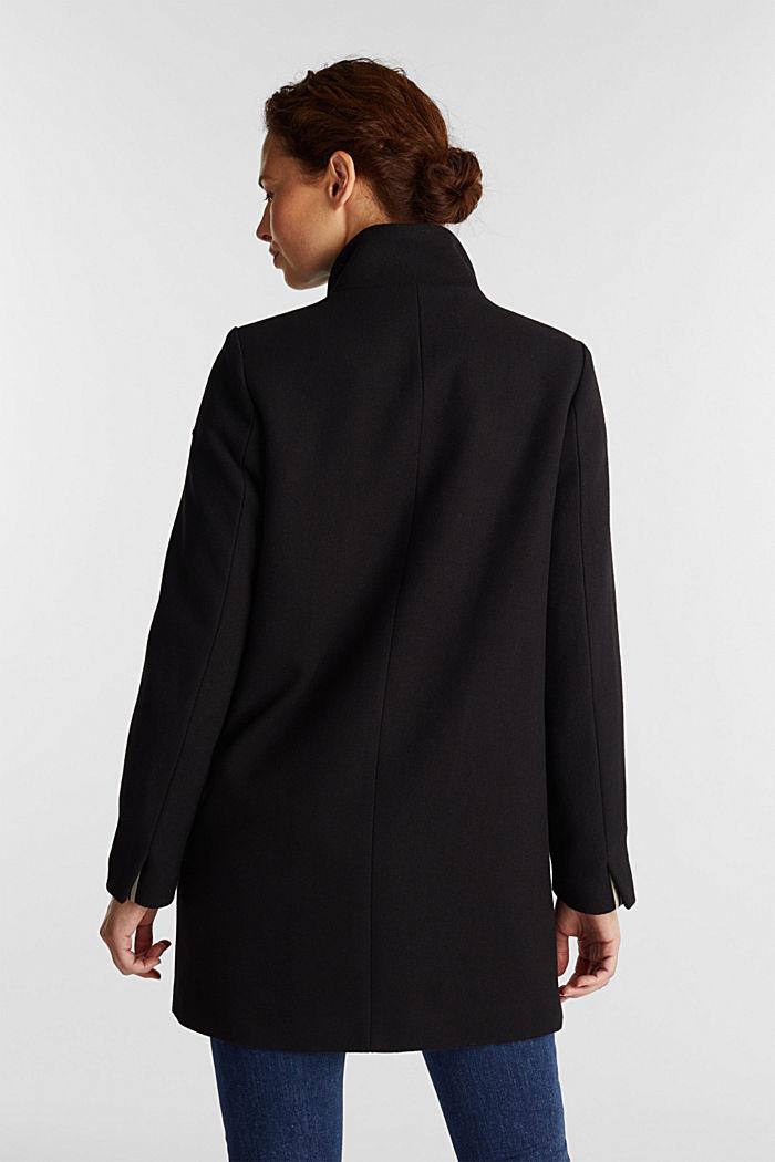 Recycled: wool blend coat, BLACK, detail image number 3
