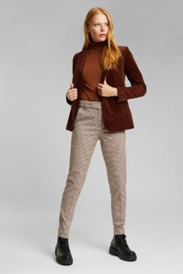 Fitted corduroy blazer made of cotton, BROWN, detail