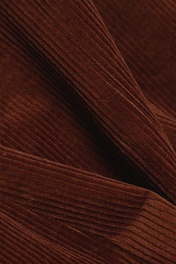 Fitted corduroy blazer made of cotton, BROWN, detail image number 4
