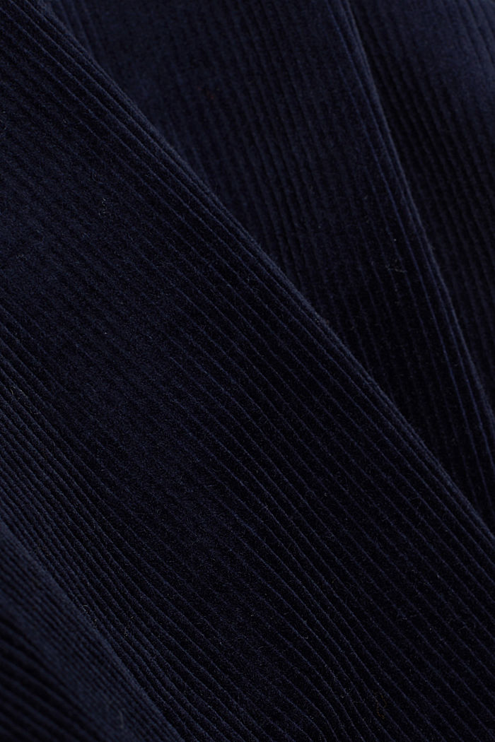 Fitted corduroy blazer made of cotton, NAVY, detail image number 4