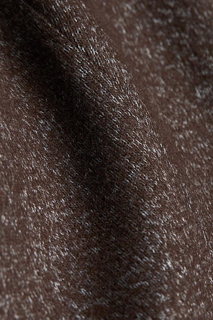Blazer made of ultra-soft melange jersey, DARK BROWN, detail image number 4