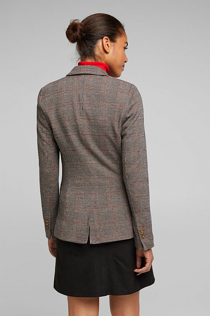 Double-breasted blazer with a Prince of Wales check pattern, CAMEL, detail image number 3