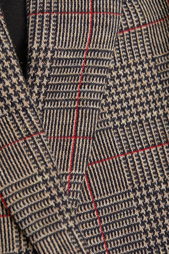 Double-breasted blazer with a Prince of Wales check pattern, CAMEL, detail image number 4
