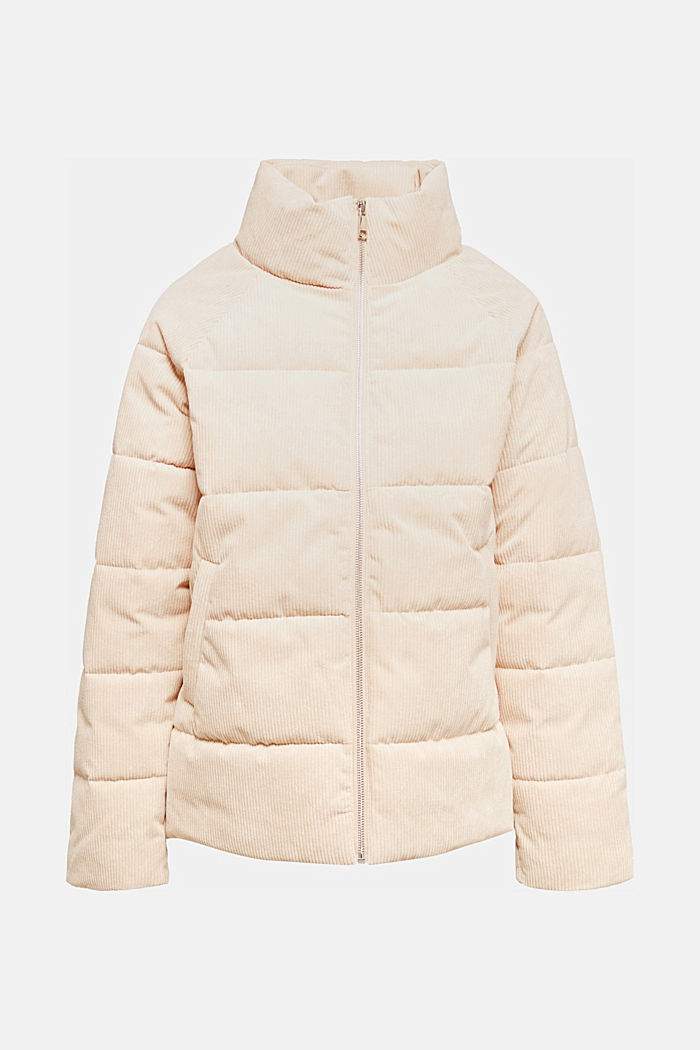 Padded, quilted corduroy jacket