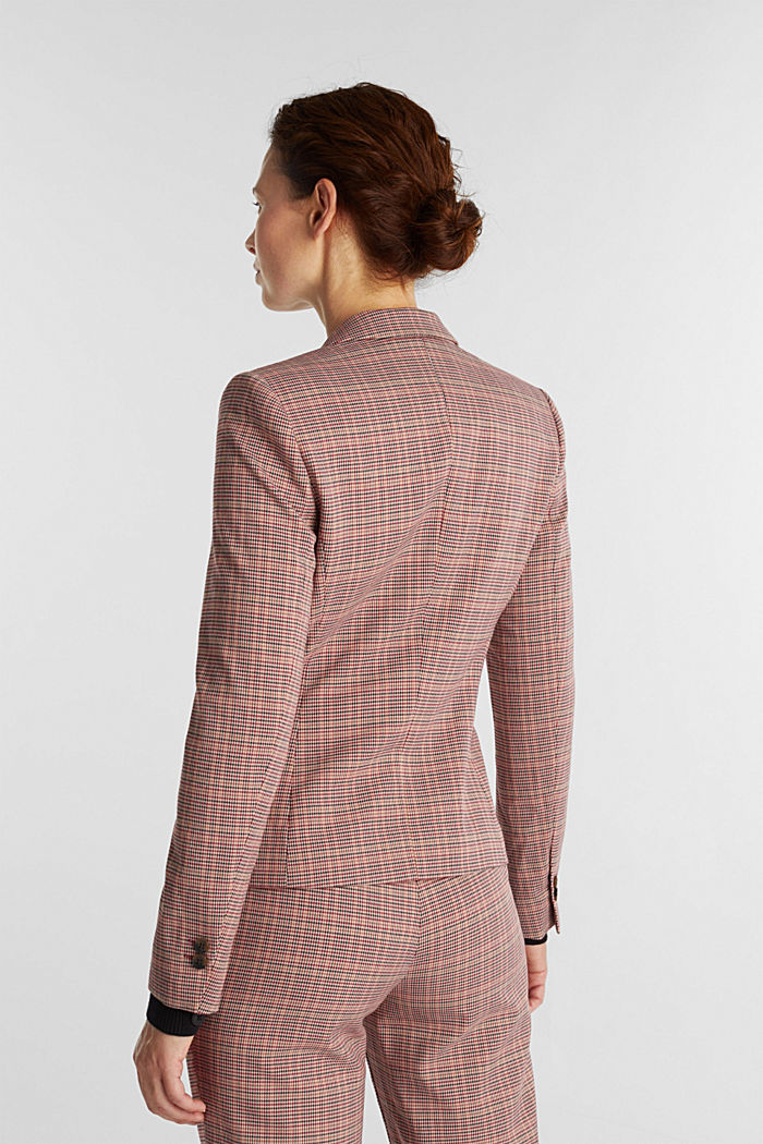 HOUNDSTOOTH Mix + Match blazer, BORDEAUX RED, detail image number 3