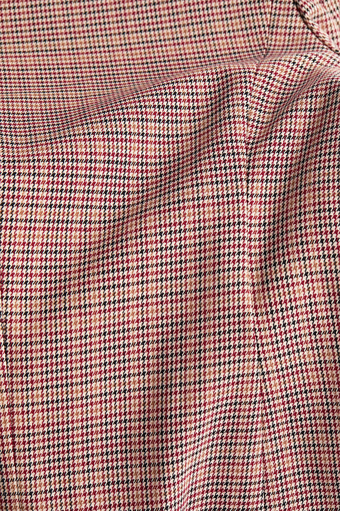HOUNDSTOOTH Mix + Match blazer, BORDEAUX RED, detail image number 4