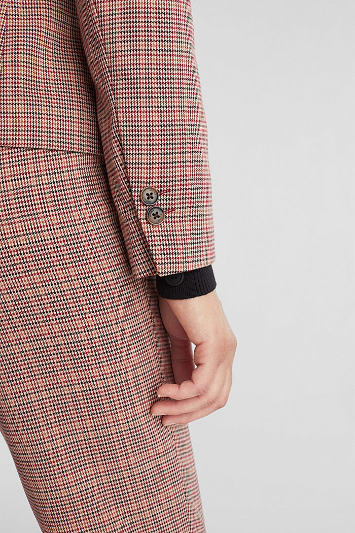 HOUNDSTOOTH Mix + Match blazer, BORDEAUX RED, detail image number 5