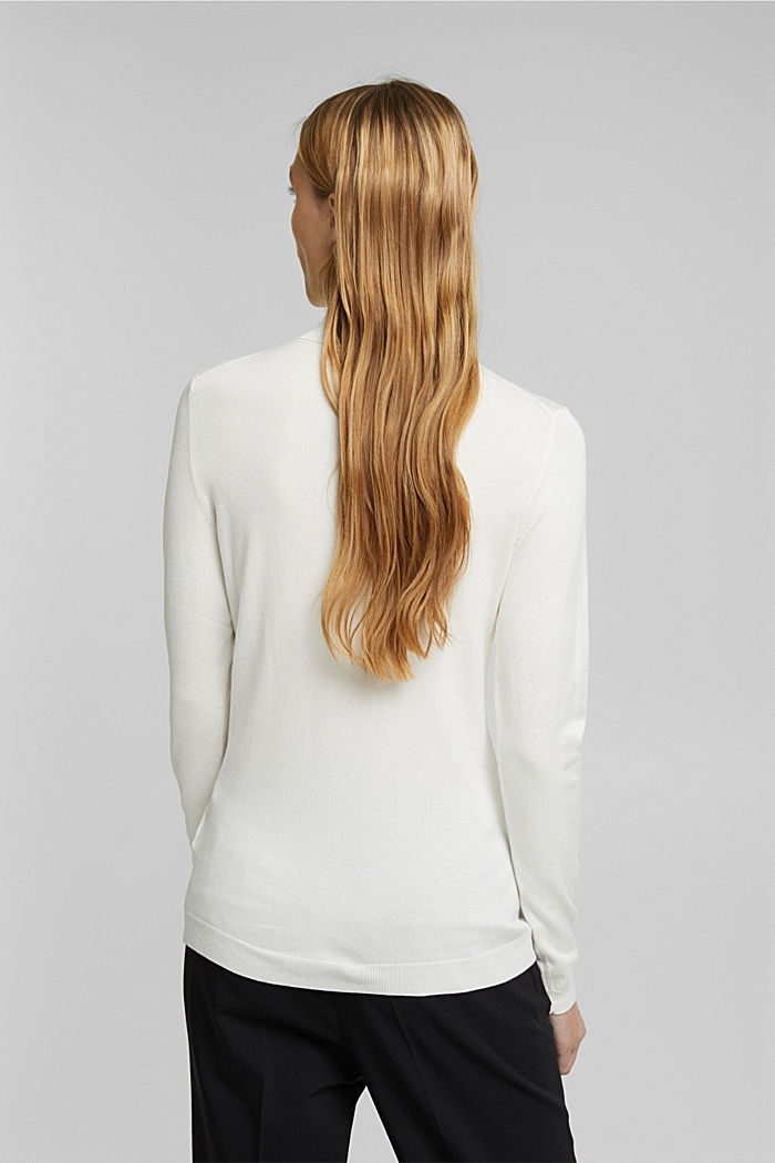 Polo neck jumper, OFF WHITE, detail image number 3
