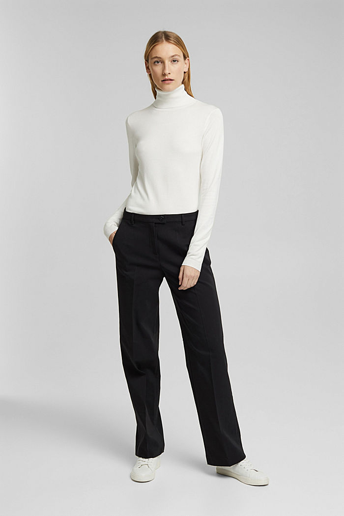 Polo neck jumper, OFF WHITE, detail image number 6
