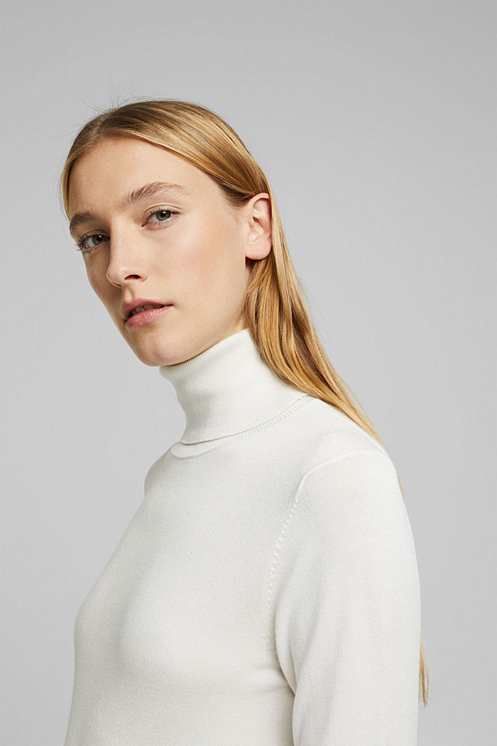 Polo neck jumper, OFF WHITE, detail image number 5