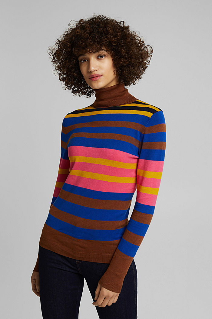 Polo neck jumper, TOFFEE, detail image number 0