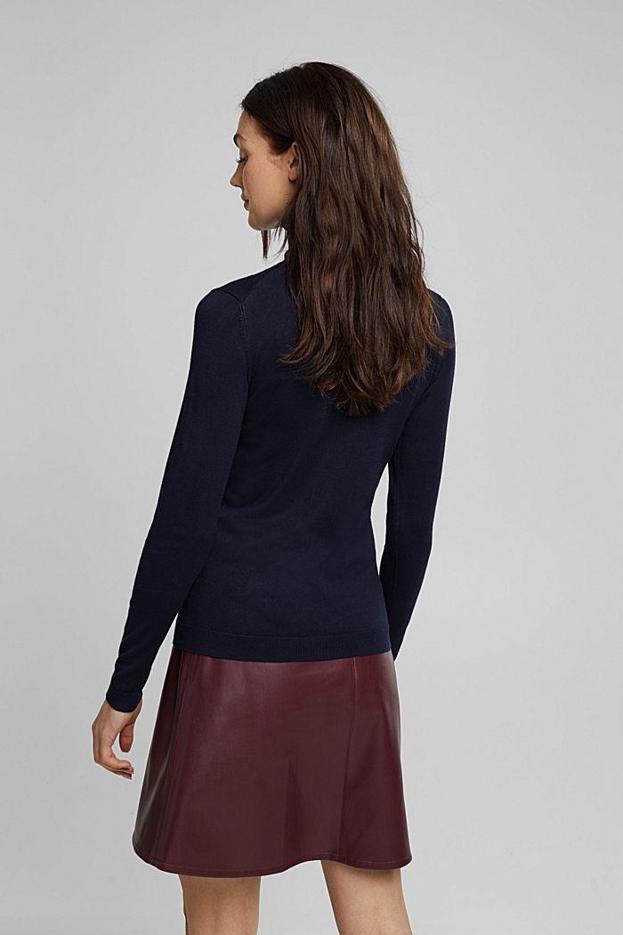 Polo neck jumper, NAVY, detail image number 3