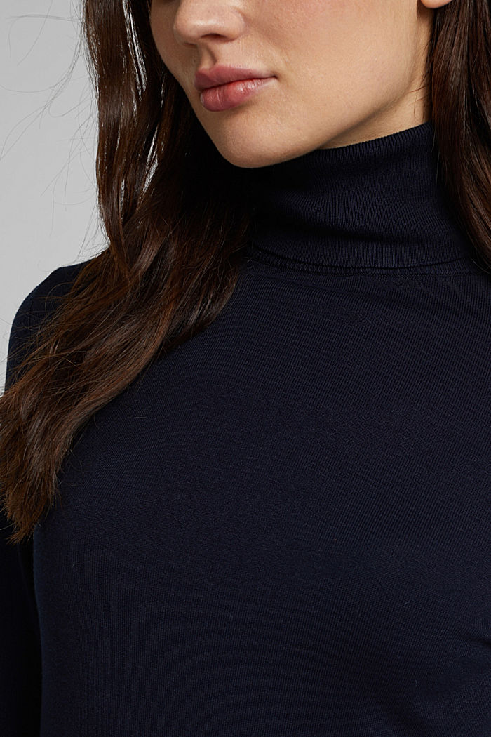 Polo neck jumper, NAVY, detail image number 2