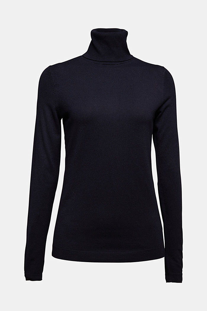 Polo neck jumper, NAVY, detail image number 4