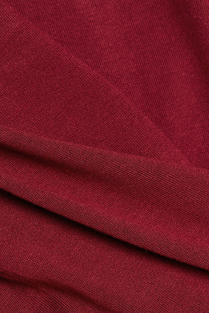 Polo neck jumper, BORDEAUX RED, detail image number 4