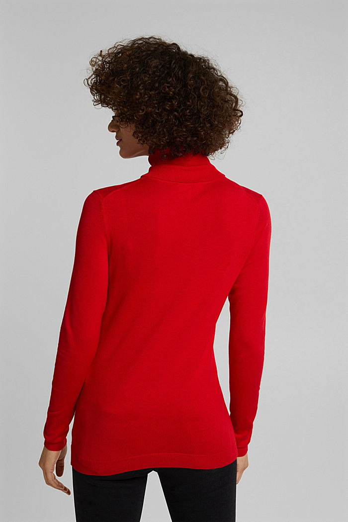 Polo neck jumper, RED, detail image number 3