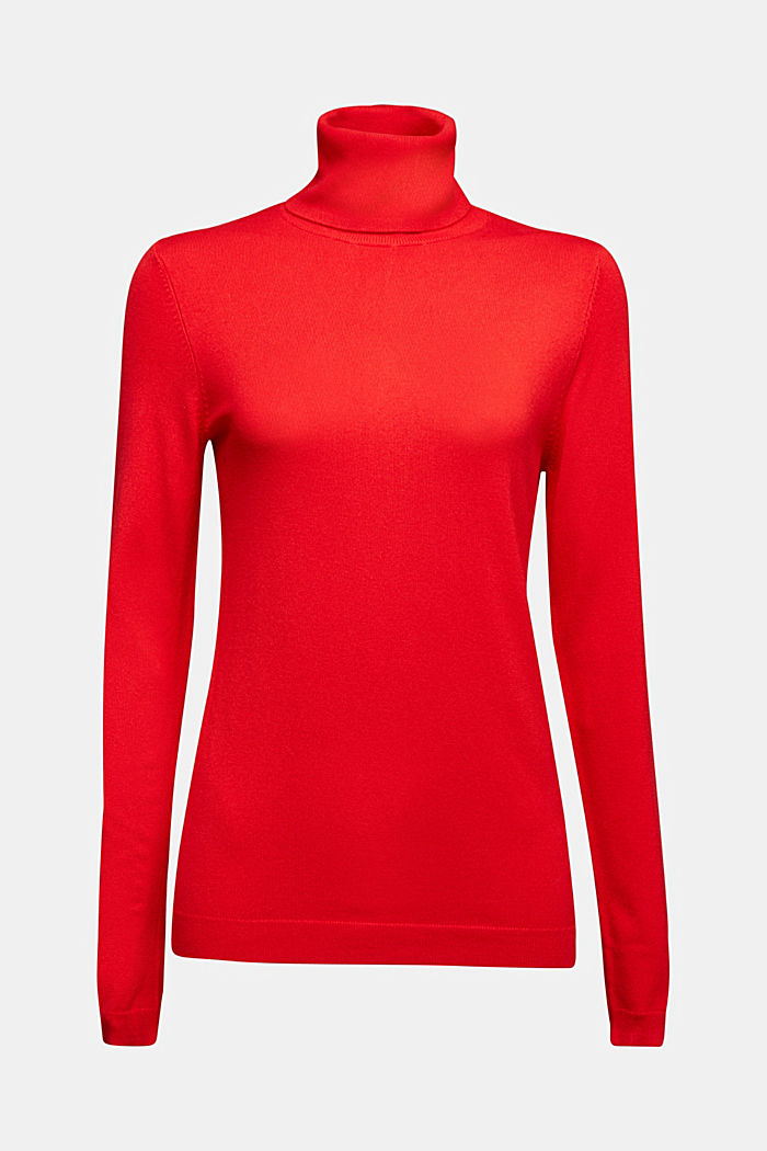 Polo neck jumper, RED, detail image number 4