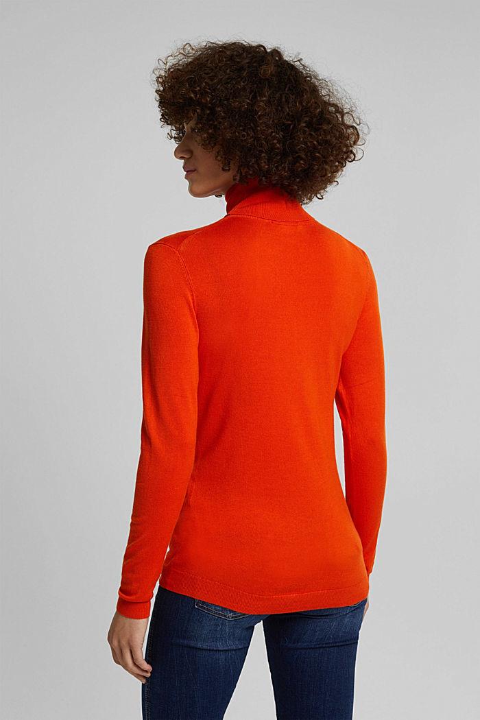 Polo neck jumper, RUST ORANGE, detail image number 3
