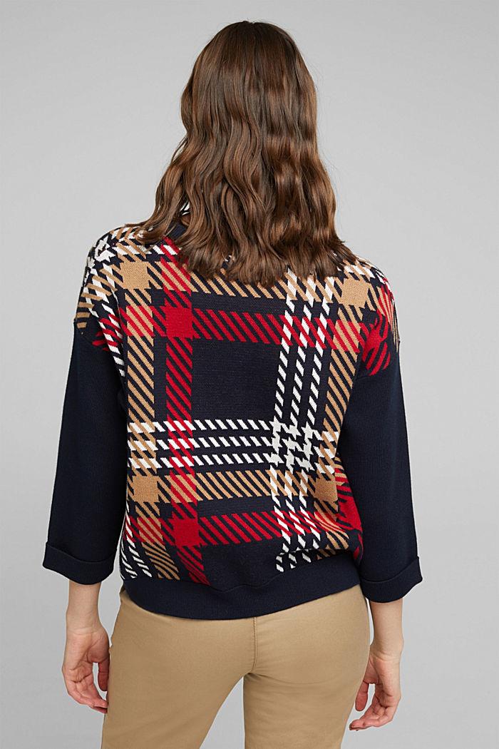 Jacquard jumper with cashmere, NAVY, detail image number 3