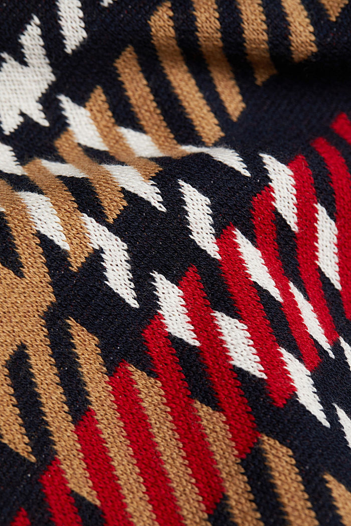 Jacquard jumper with cashmere, NAVY, detail image number 4