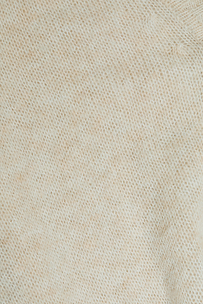 Wool blend containing alpaca: airy cardigan, SAND, detail image number 4