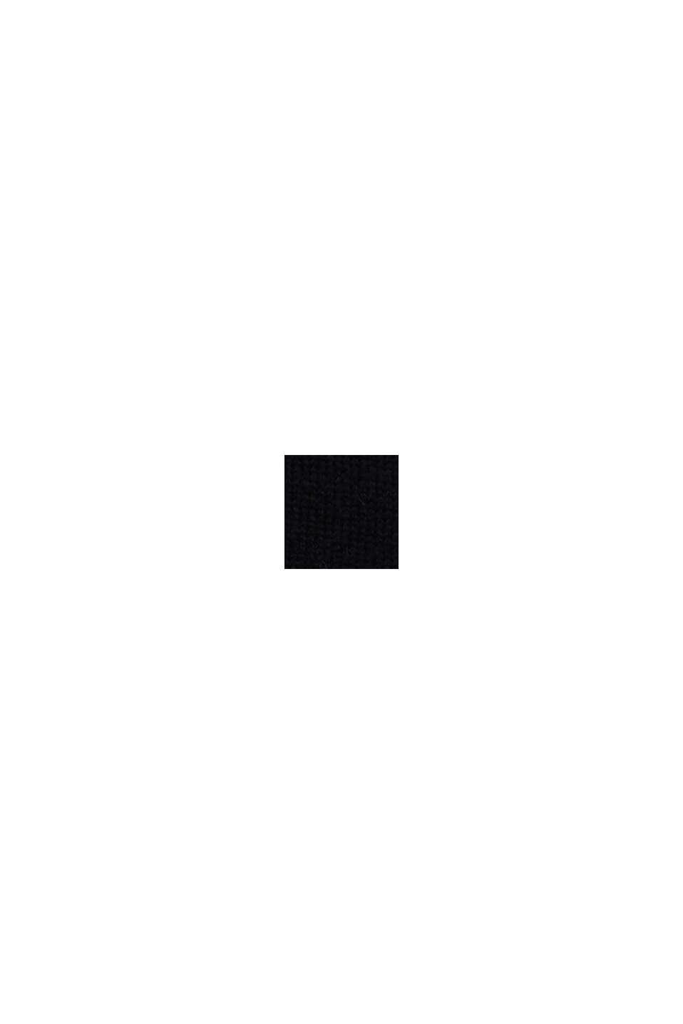 Med ull/alpacka: Rundringad tröja, BLACK, swatch