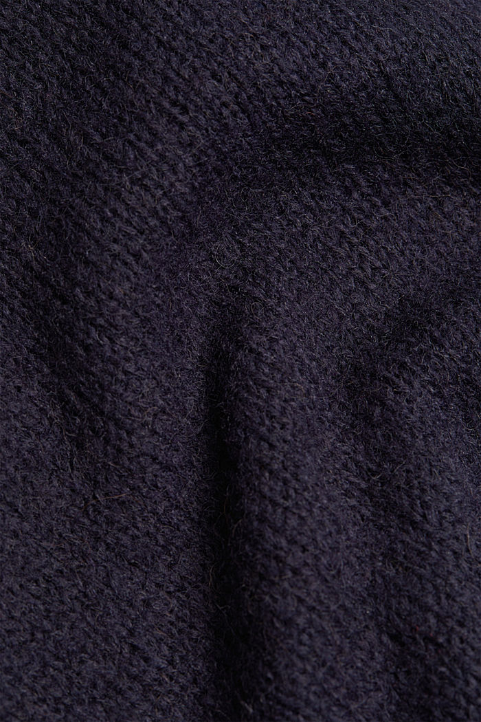Jumper with a round neckline, with wool & alpaca, NAVY, detail image number 4