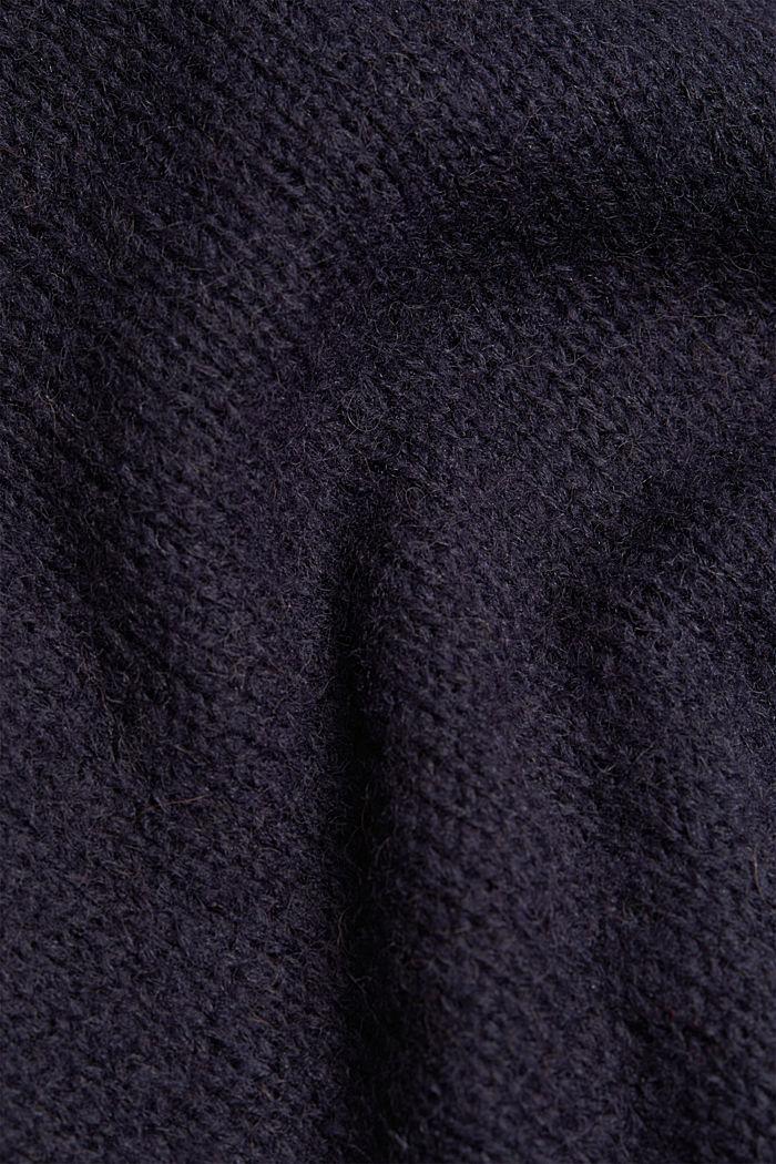 Mit Wolle/Alpaka: Rundhals-Pullover, NAVY, detail image number 4