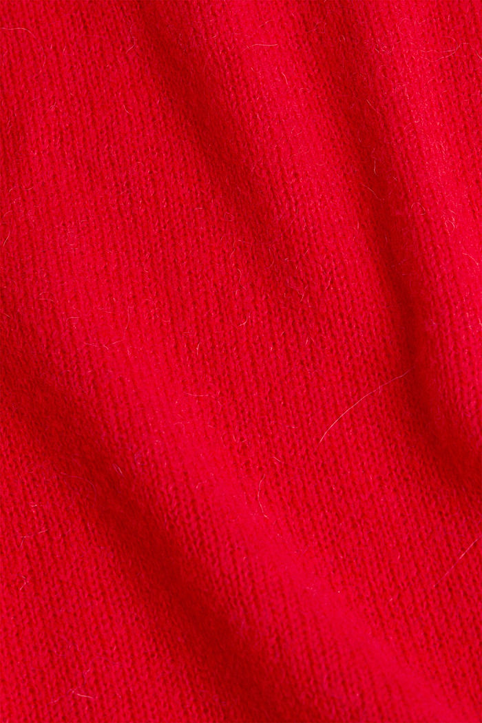 Jumper with a round neckline, with wool & alpaca, RED, detail image number 4