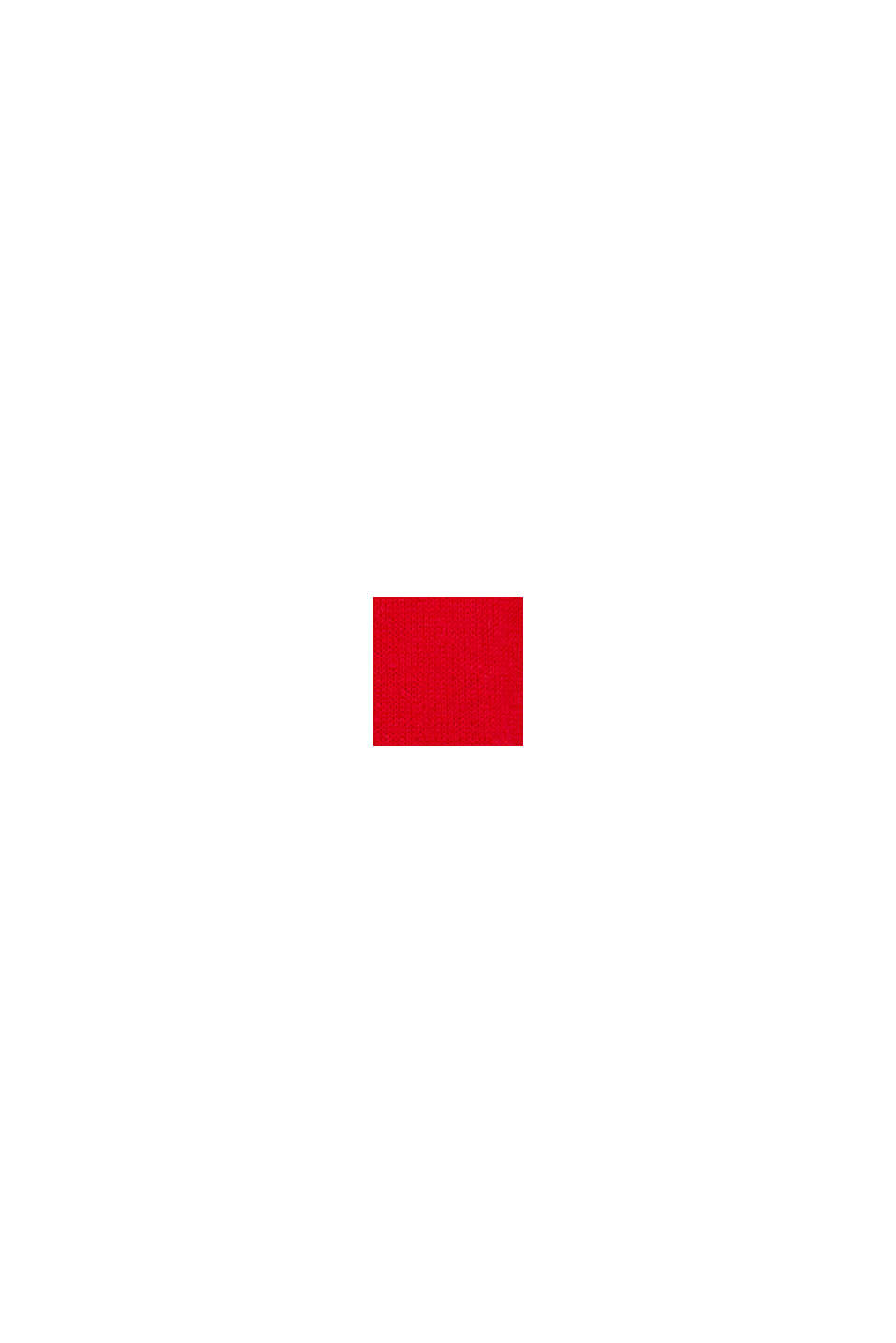 Med uld/alpaka: pullover med rund hals, RED, swatch