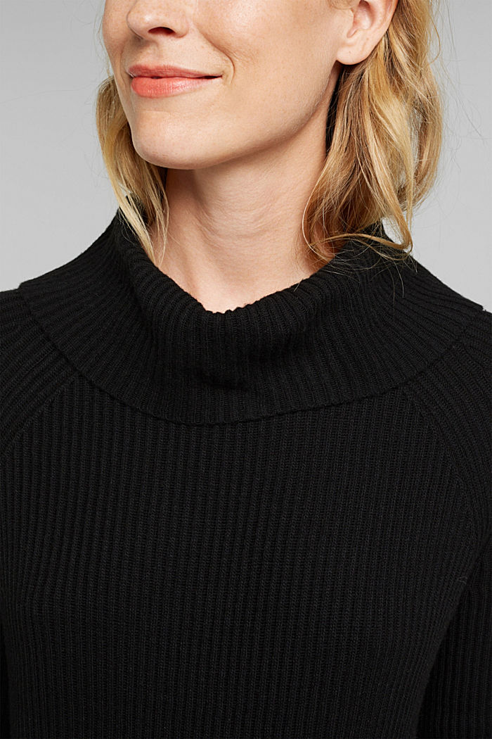 Ribbed jumper containing cashmere, BLACK, detail image number 2