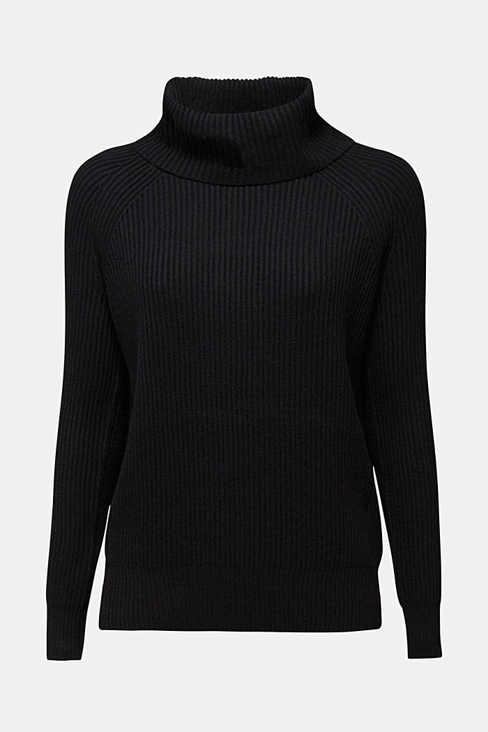 Ribbed jumper containing cashmere, BLACK, detail image number 5