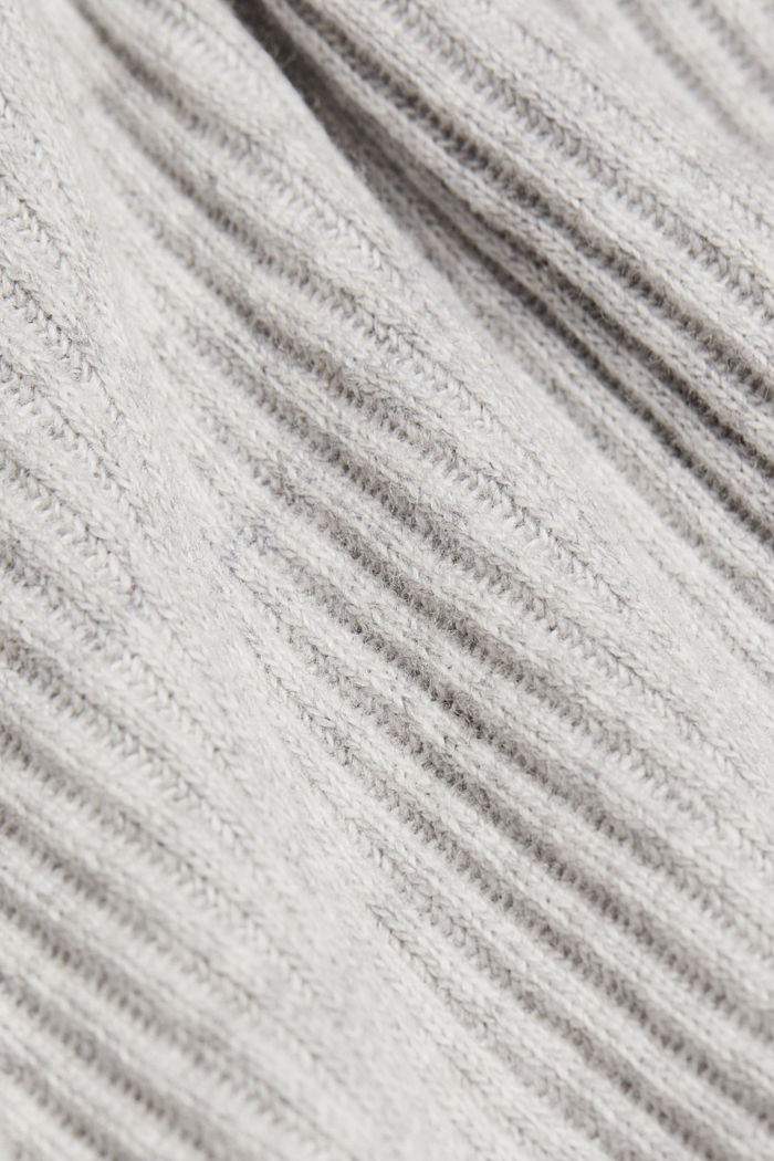 Ribbed jumper containing cashmere, LIGHT GREY, detail image number 4