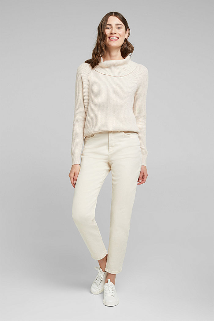Ribbed jumper containing cashmere, SAND, detail image number 1