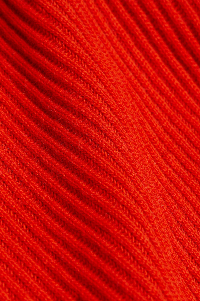 Ribbed jumper containing cashmere, RUST ORANGE, detail image number 4