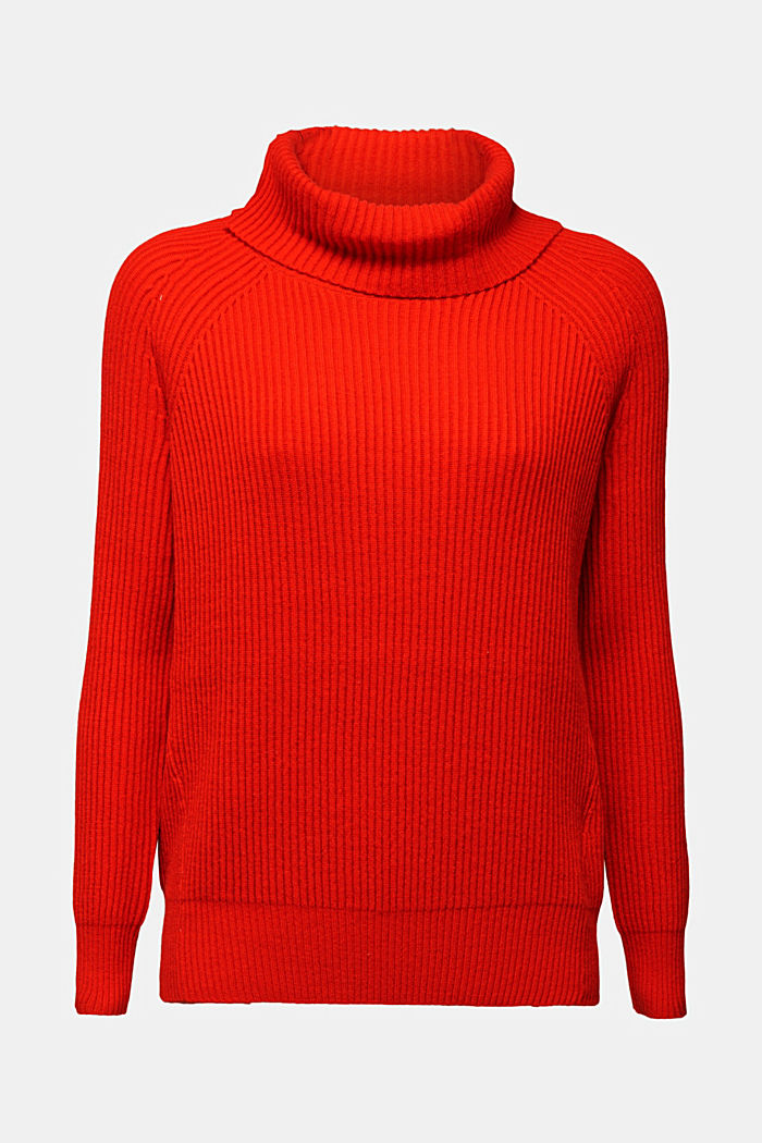 Ribbed jumper containing cashmere, RUST ORANGE, detail image number 5