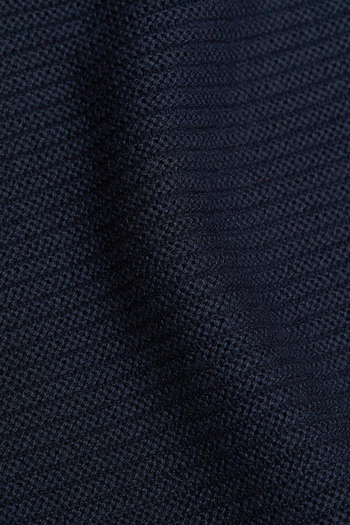 Mit Kaschmir: Organic Cotton Pullover, NAVY, detail image number 4